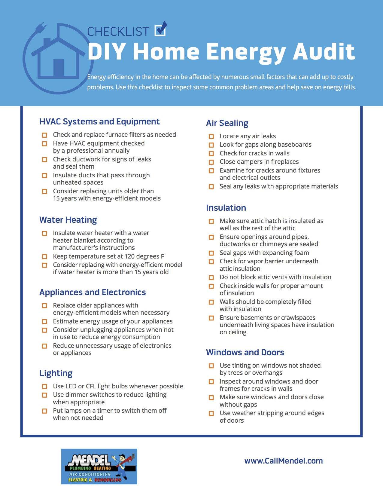 DIY Home Energy Audit Checklist
